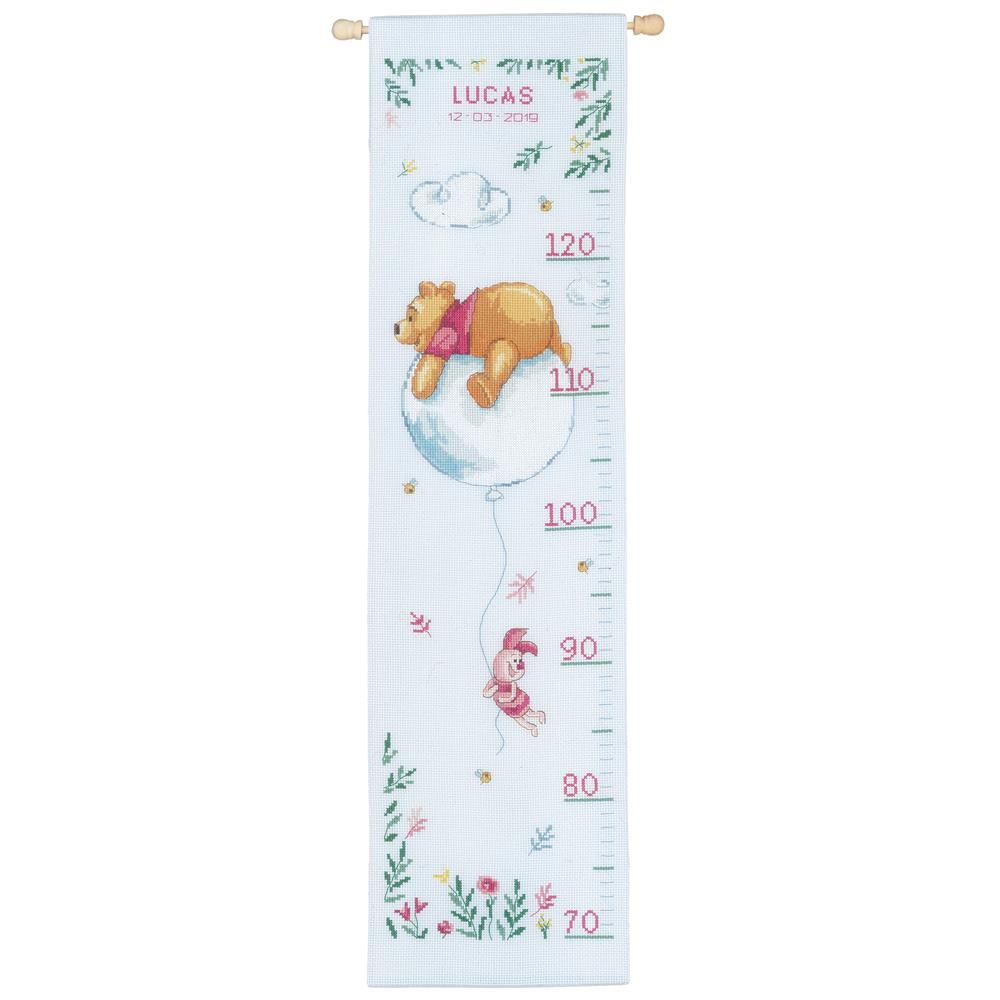 Winnie on Balloon Height Chart -  Cross Stitch Kit