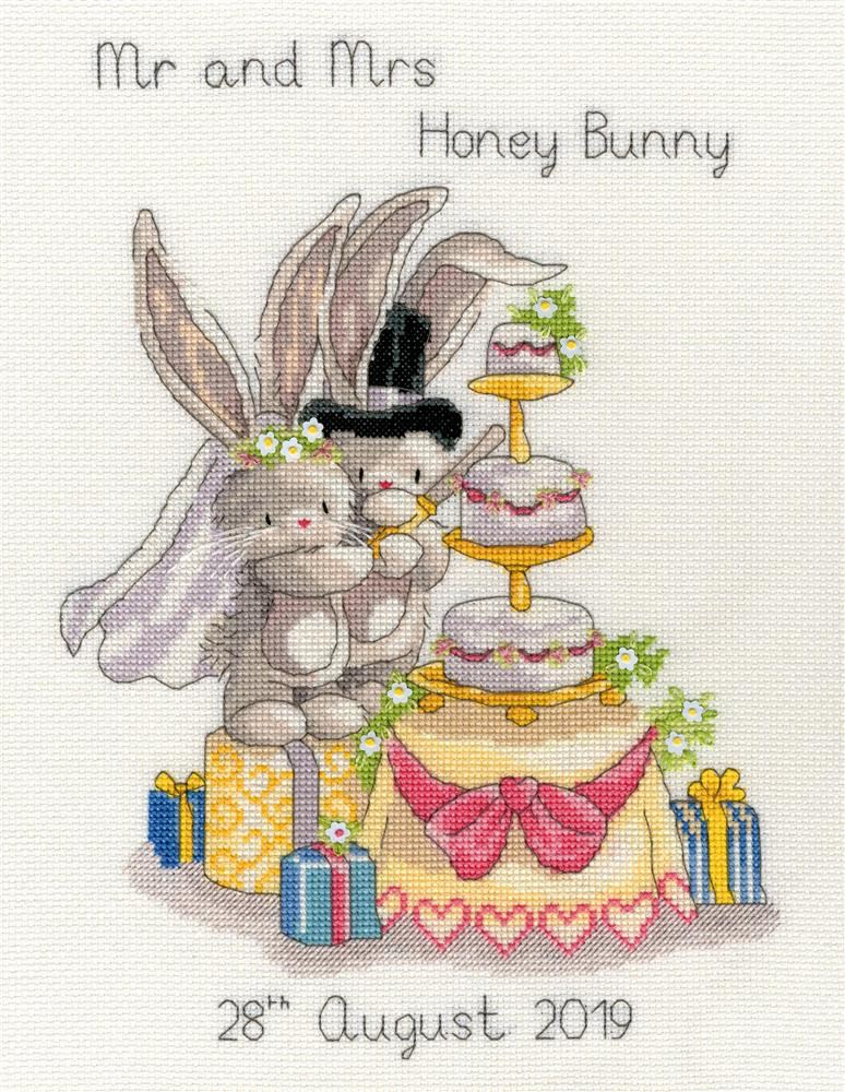 Bothy Threads Cutting the Cake Wedding Sampler Cross Stitch Kit