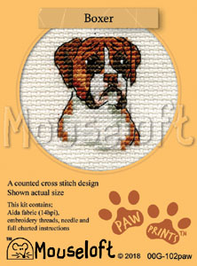 Boxer -  Cross Stitch Kit
