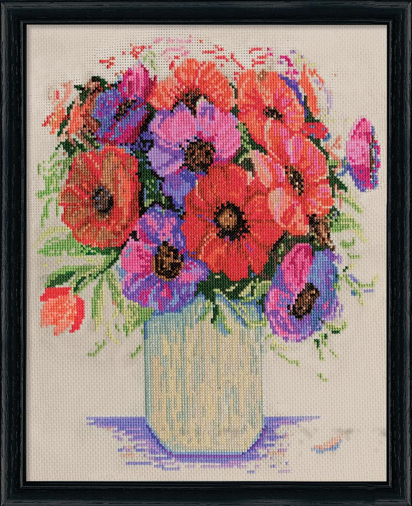 Design Works Crafts Anemones Cross Stitch Kit