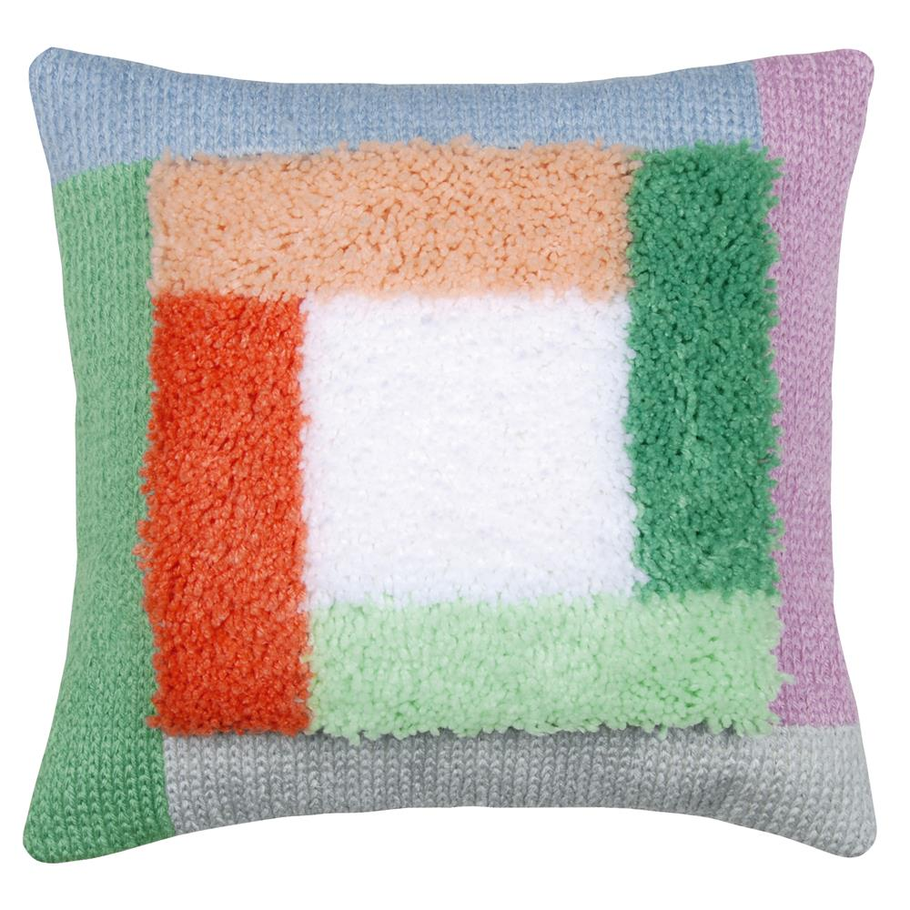 Vervaco Palm Springs Blocks Cushion with Back Latch Hook Cushion Kit