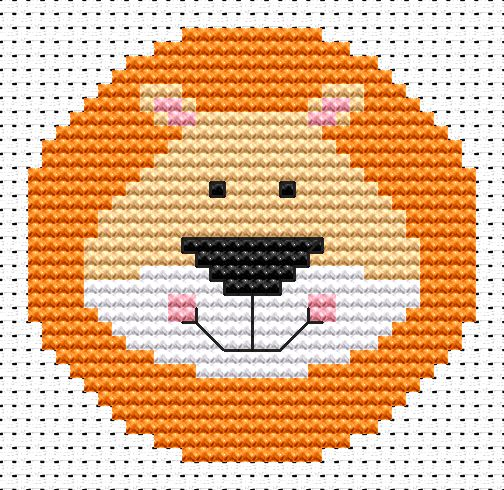 Fat Cat Sew Simple Lion Cross Stitch Kit