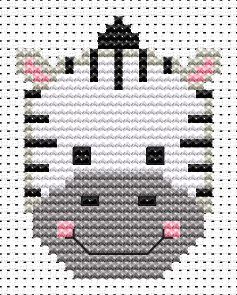 Sew Simple Zebra -  Cross Stitch Kit
