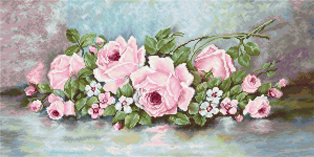 Pink Roses - Petit Point Kit