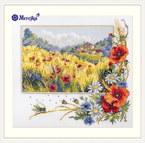 Merejka Summer Field Cross Stitch Kit