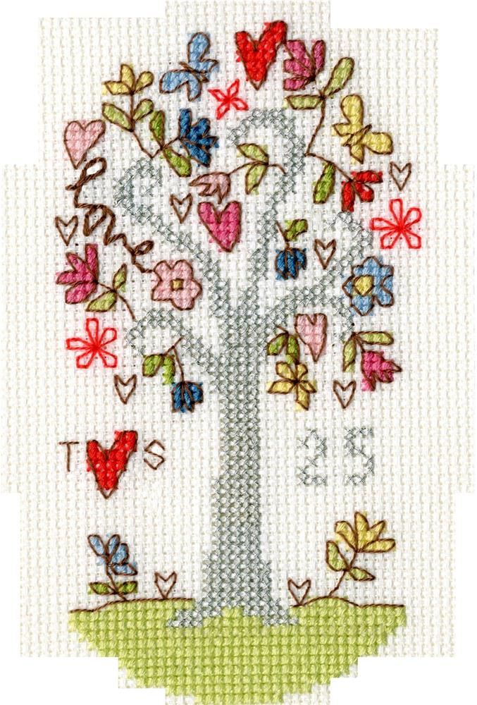 Silver Celebration Card -  Cross Stitch Kit