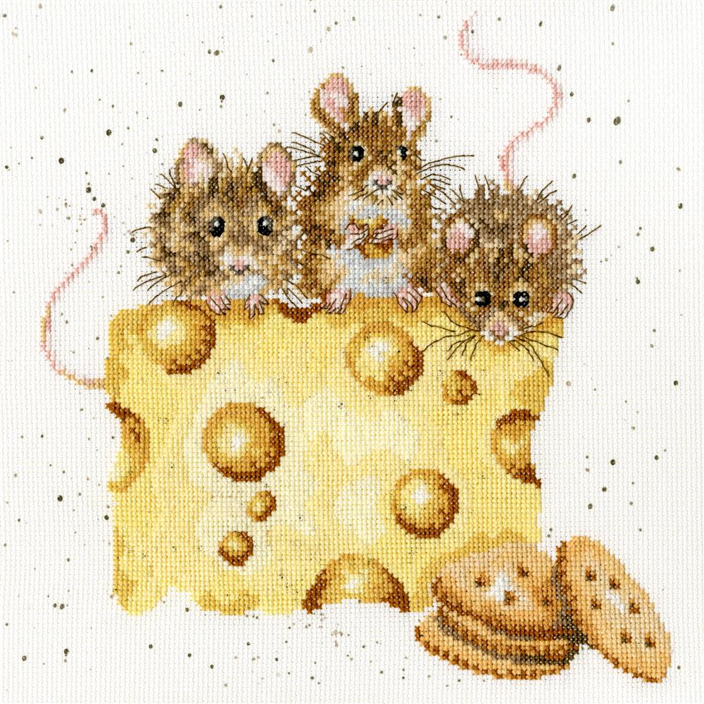 Bothy Threads Crackers About Cheese Cross Stitch Kit