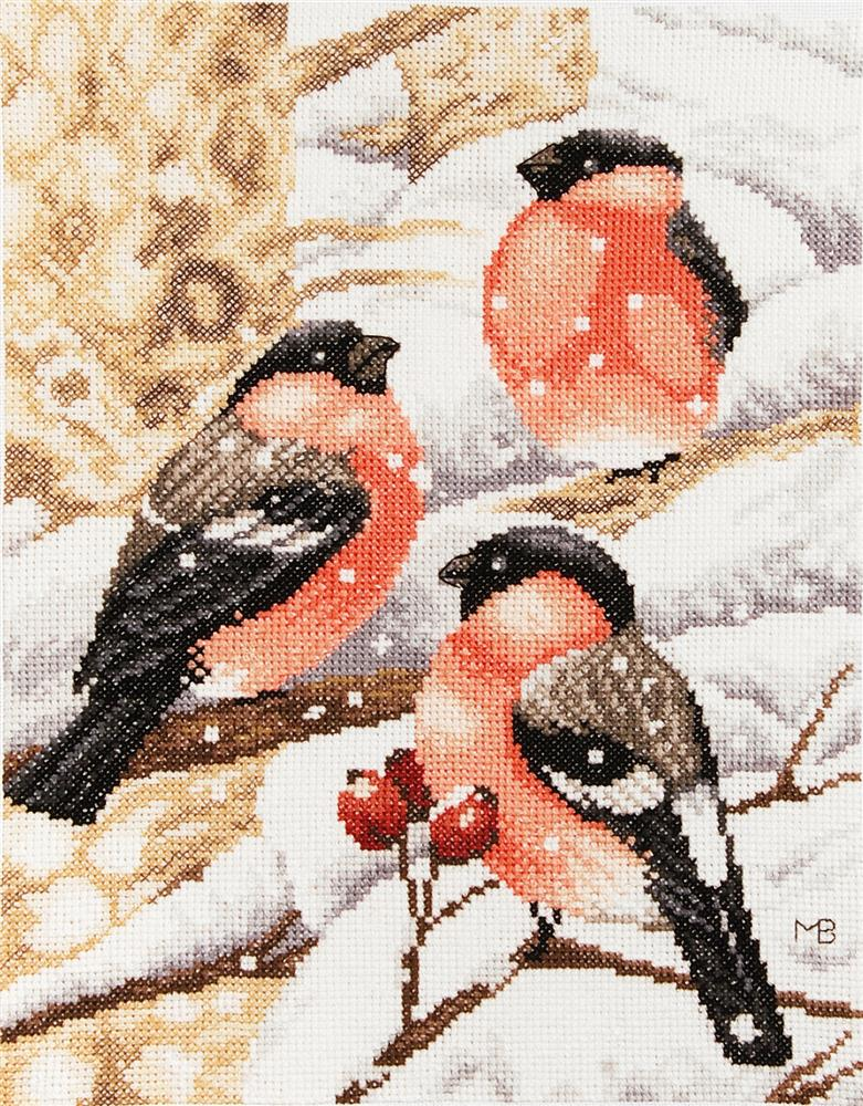 Bullfinch -  Christmas Cross Stitch Kit