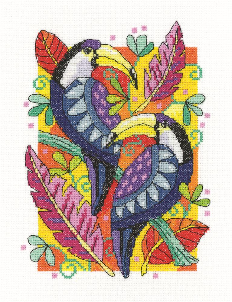 Heritage Toucans Cross Stitch Kit