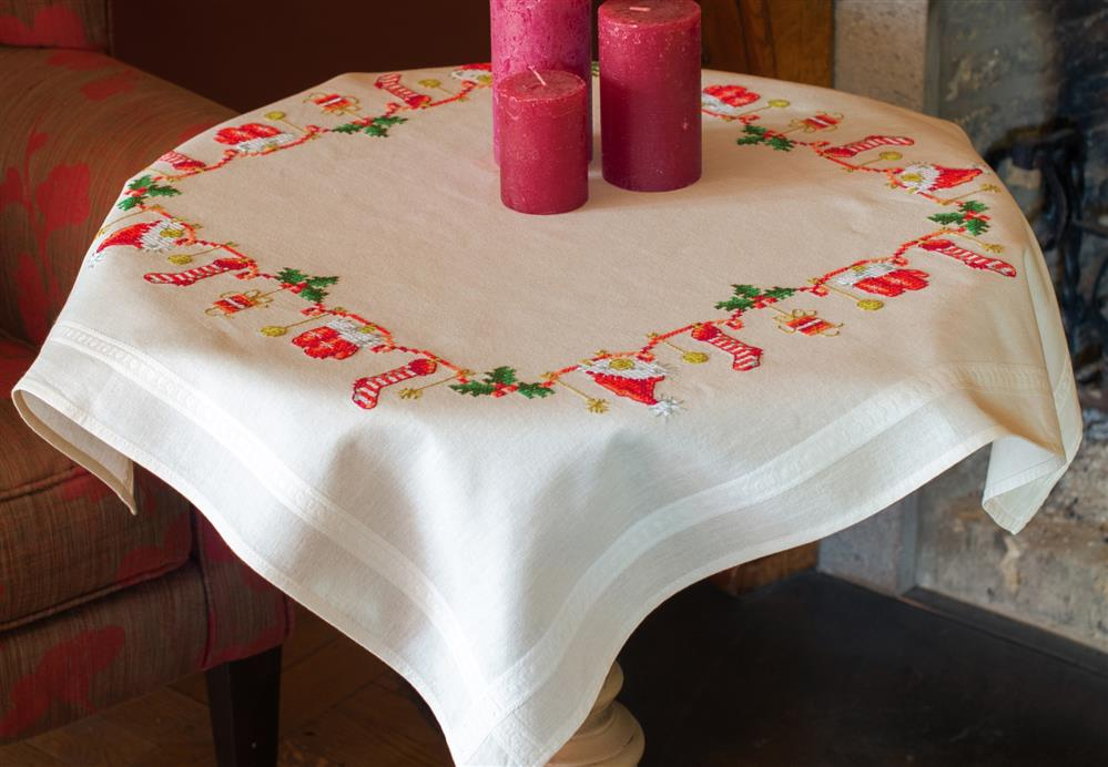 Vervaco Christmas Motif Tablecloth Cross Stitch Kit