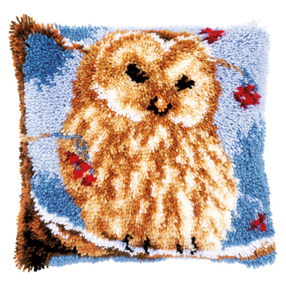 Vervaco Owl Latch Hook Cushion Latch Hook Christmas Cushion Kit