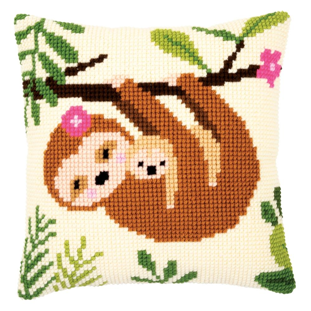 Vervaco Sloth Cushion Cross Stitch Kit