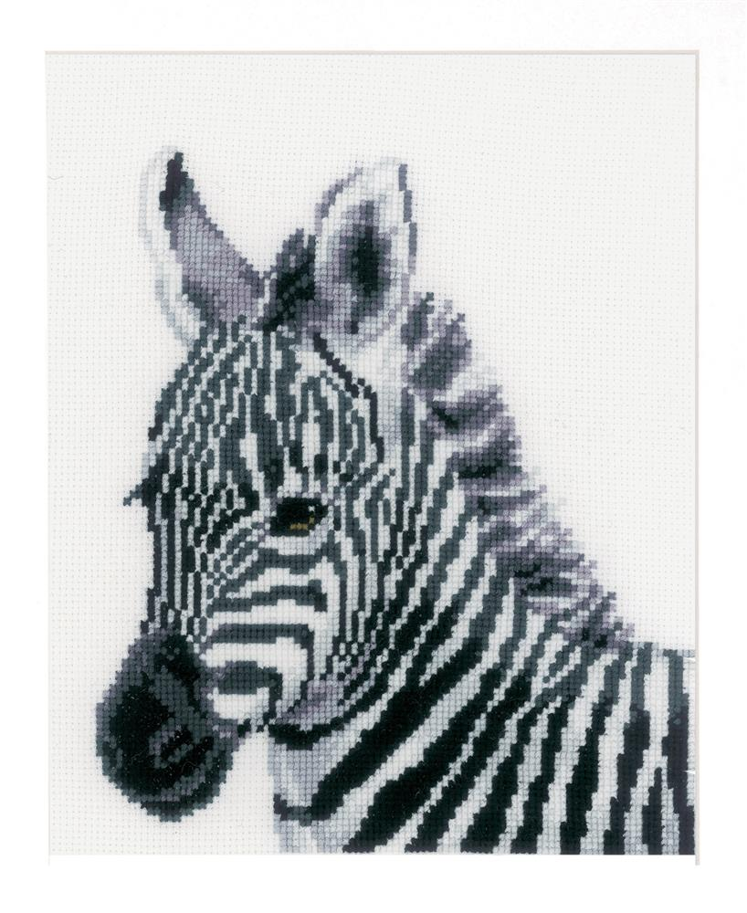 Vervaco Zebra Cross Stitch Kit