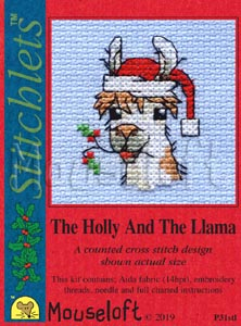 Mouseloft The Holly and The Llama Christmas Cross Stitch Kit