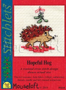 Mouseloft Hopeful Hog Christmas Cross Stitch Kit