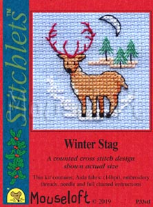 Winter Stag -  Christmas Cross Stitch Kit