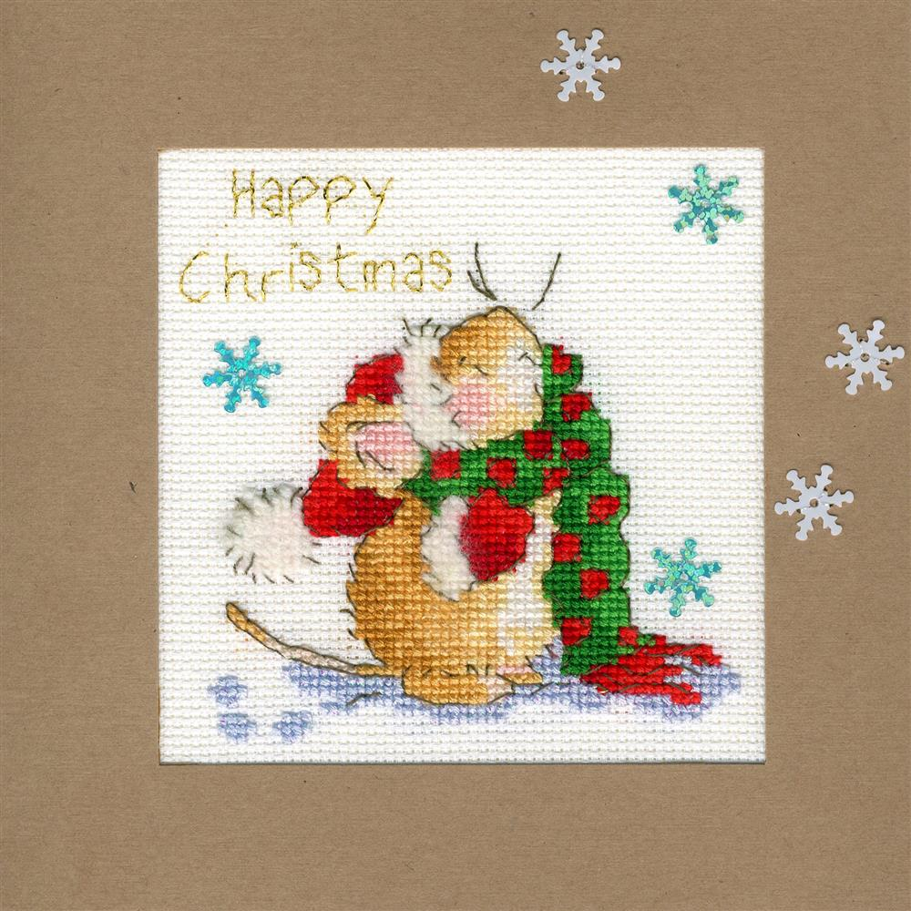 Bothy Threads Counting Snowflakes Christmas Card Making Christmas Cross Stitch Kit