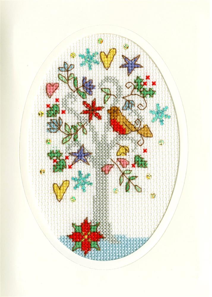 Bothy Threads Winter Wishes Christmas Card Making Christmas Cross Stitch Kit