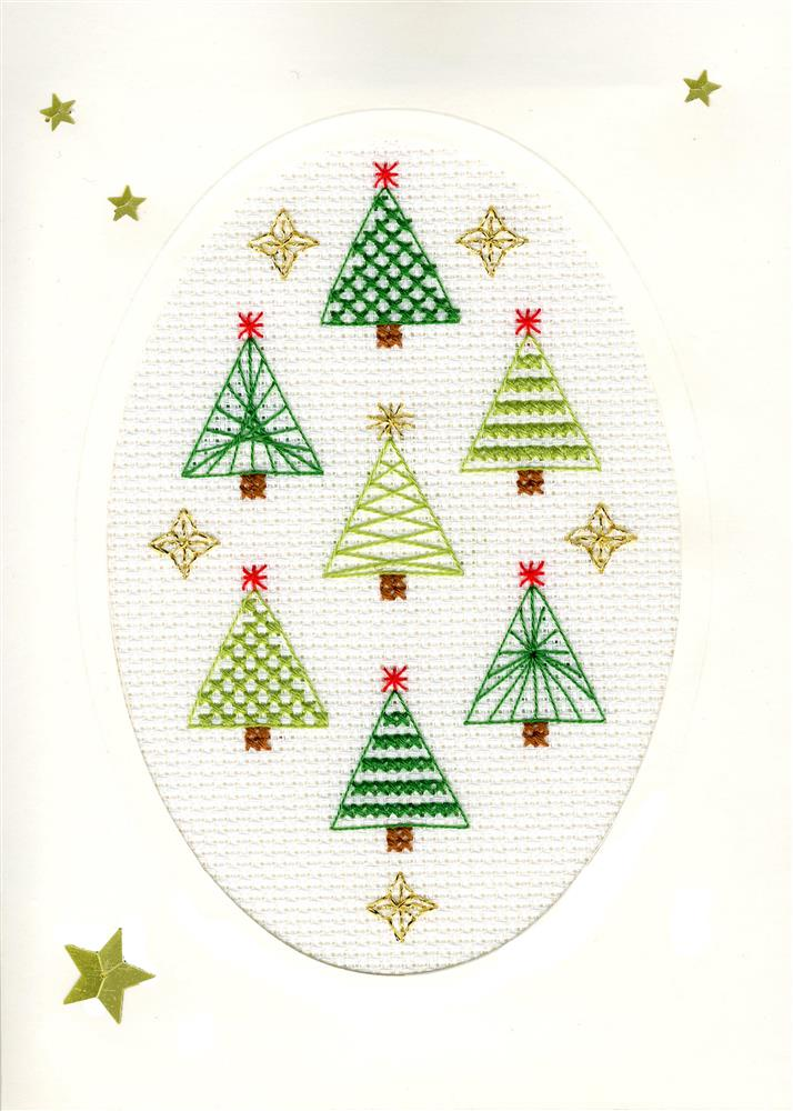 Bothy Threads Christmas Forest Christmas Card Making Cross Stitch Kit