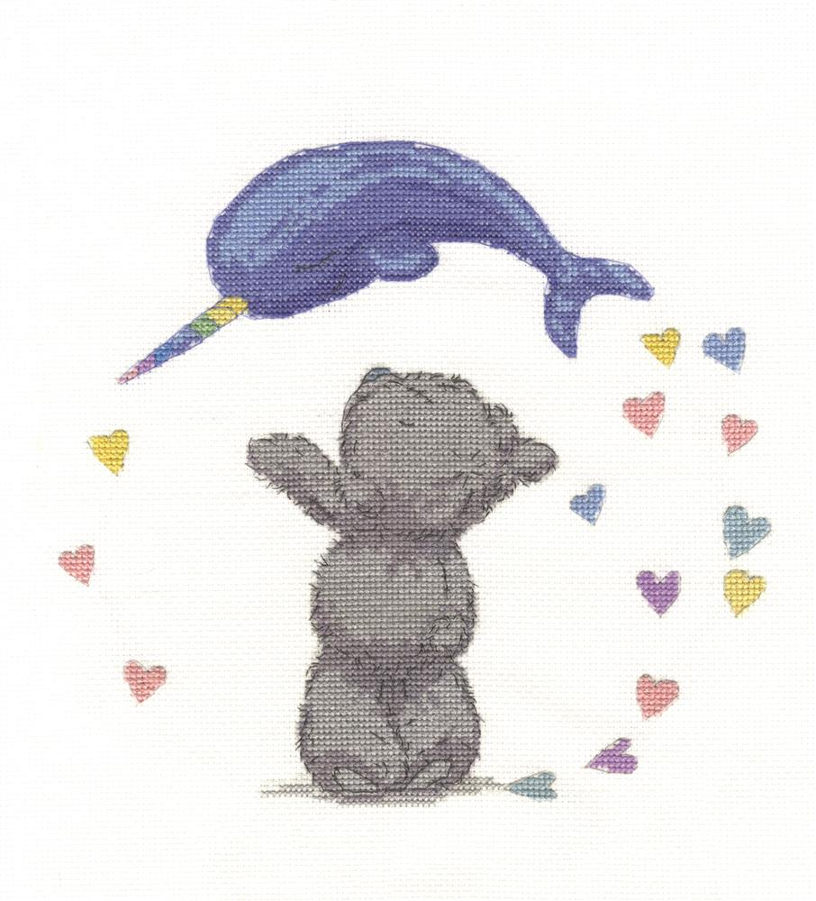 Narwhal Hearts -  Cross Stitch Kit