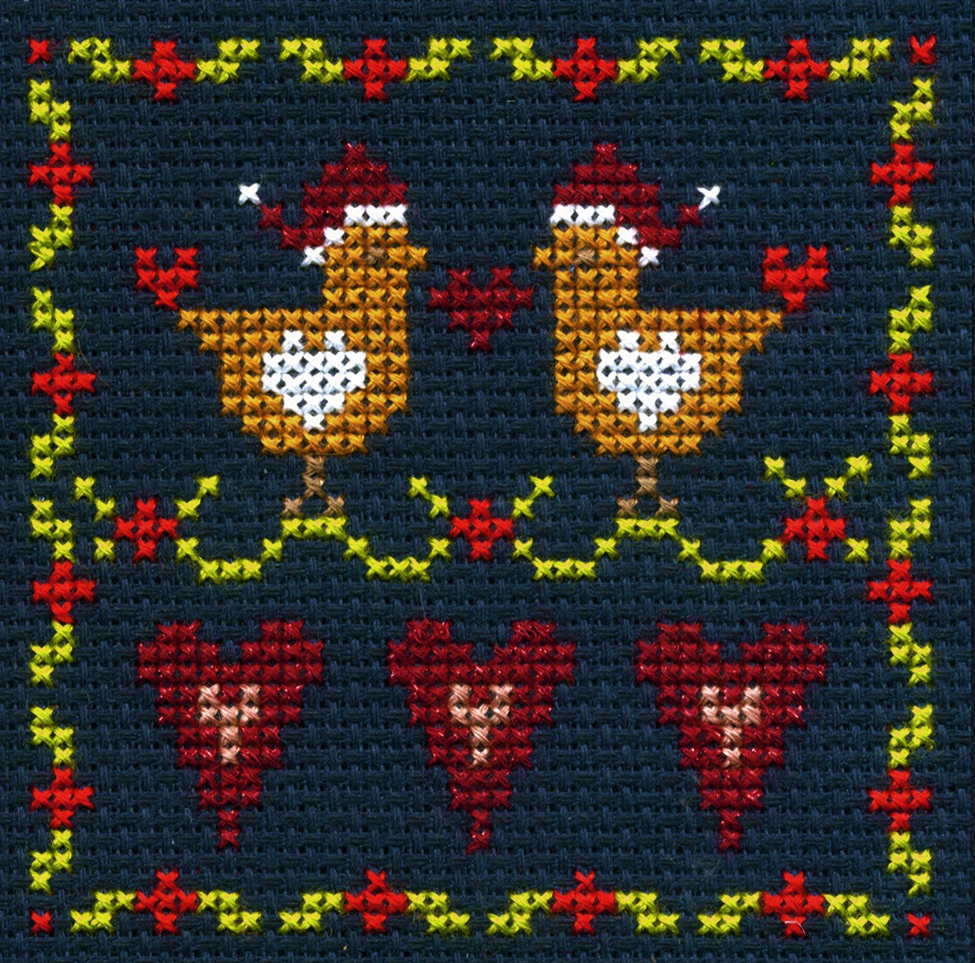 Love Birds -  Christmas Cross Stitch Kit