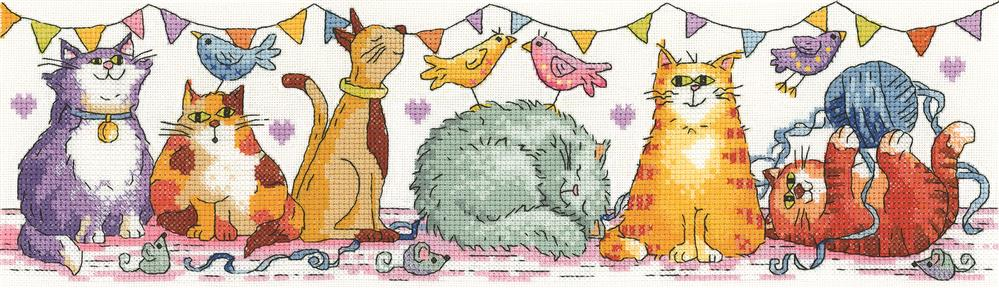 Cat Show - Aida -  Cross Stitch Kit