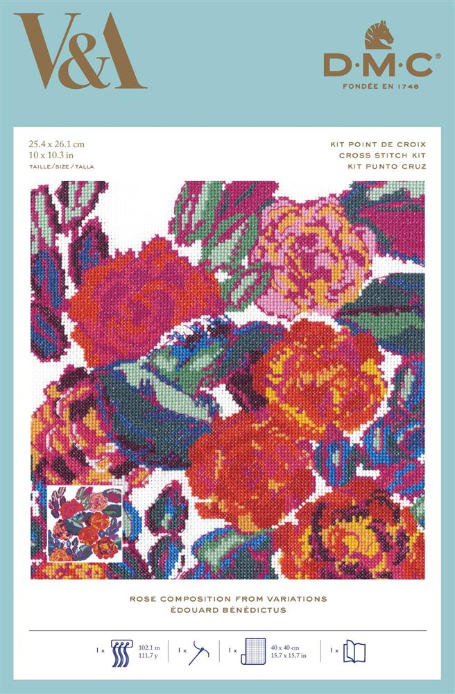 Rose Composition - Variations -  Cross Stitch Kit