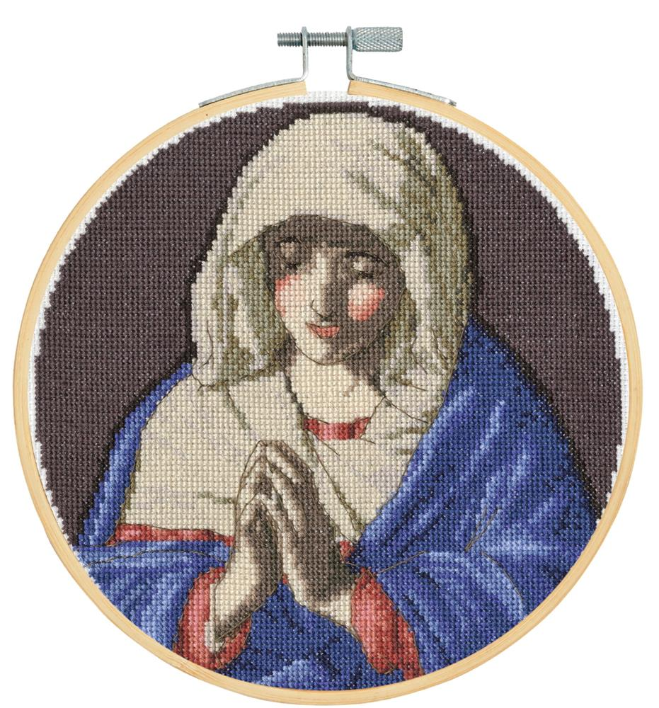 DMC The Virgin in Prayer - Sassferrato Cross Stitch Kit