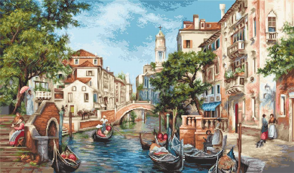 Luca-S The Streets of San Polo Petit Point Kit Tapestry