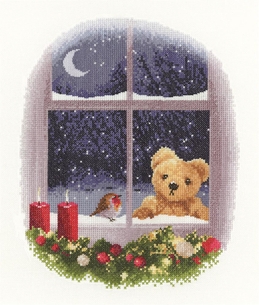 William and Robin - Evenweave -  Christmas Cross Stitch Kit