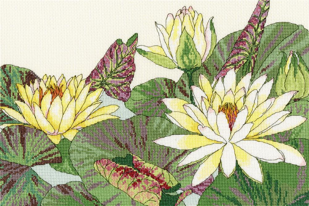Bothy Threads Waterlily Blooms Cross Stitch Kit