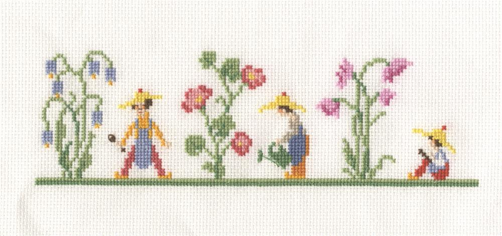 Bluebell Garden Bookmark -  Cross Stitch Kit