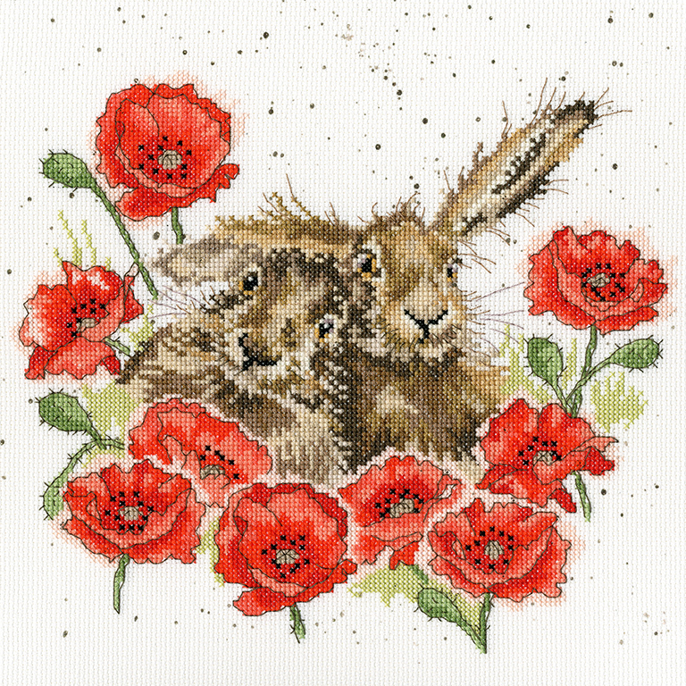 Bothy Threads Love is in the Hare Cross Stitch Kit