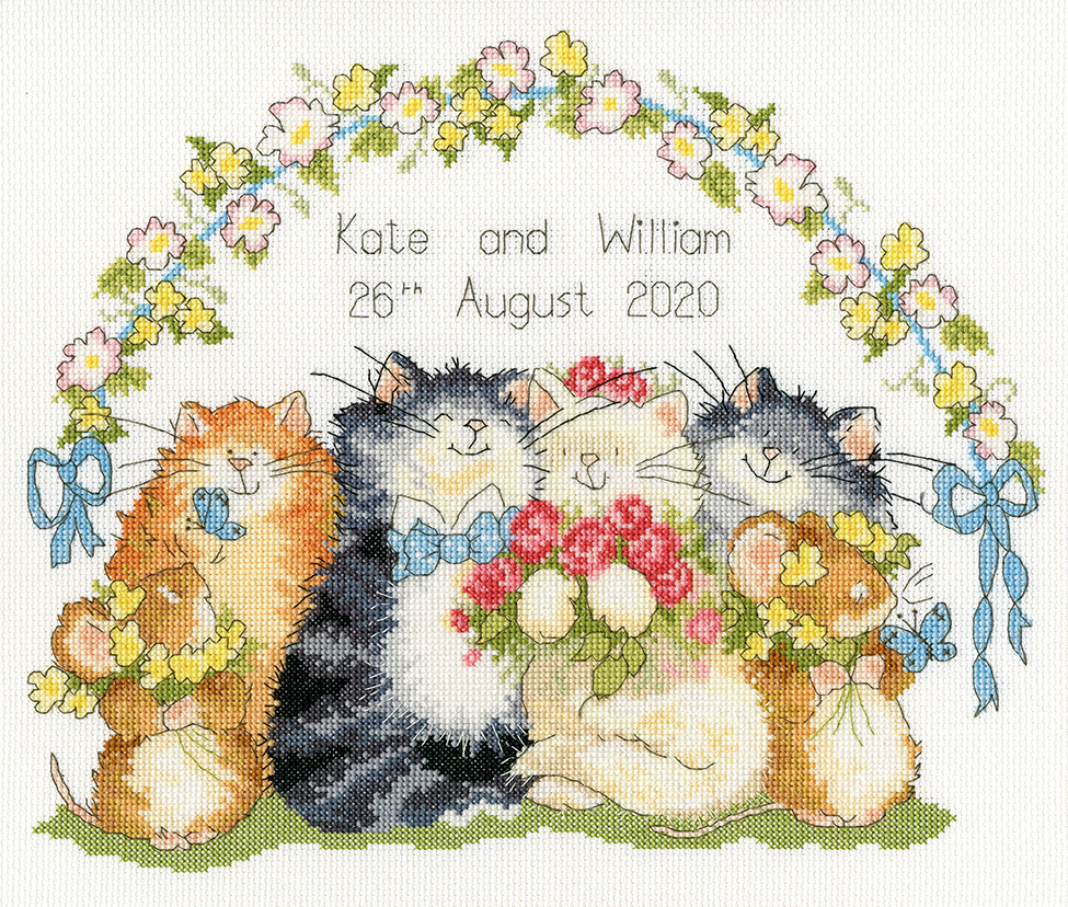 Bothy Threads The Purrfect Day Wedding Sampler Cross Stitch Kit