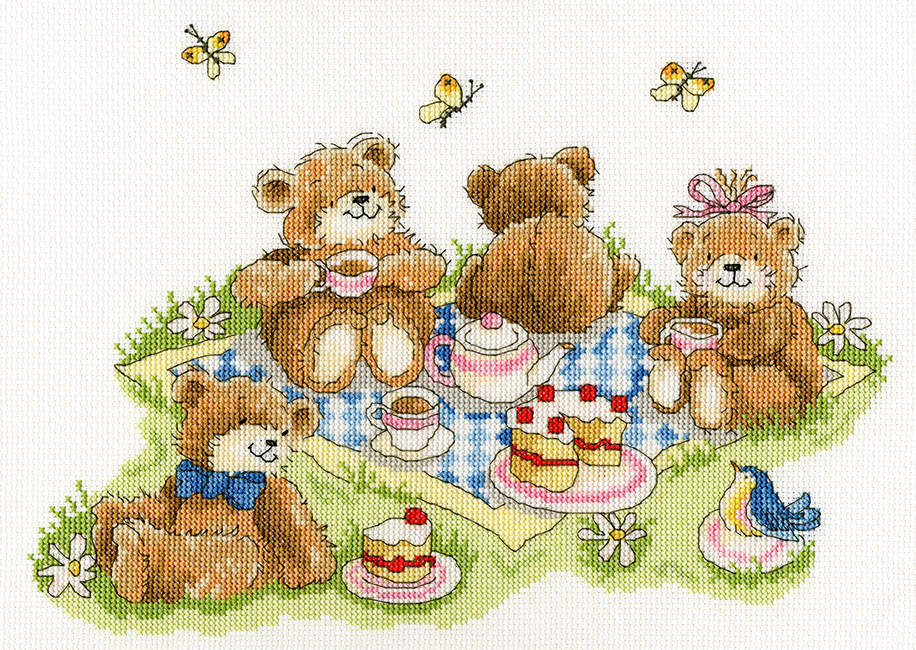 Bothy Threads Teddy Bears' Picnic Cross Stitch Kit