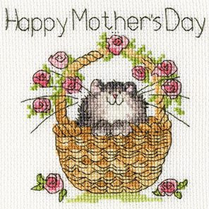 Bothy Threads Basket of Roses Card Cross Stitch Kit