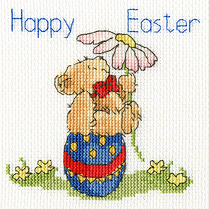 Bothy Threads Easter Teddy Card Cross Stitch Kit