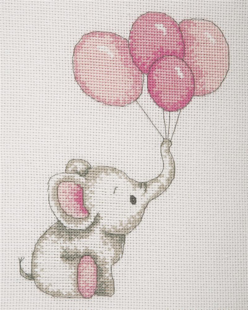 Girl Balloons -  Cross Stitch Kit