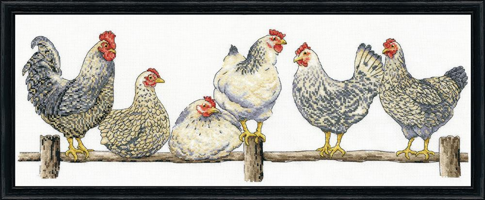 Design Works Crafts The Roost Cross Stitch Kit