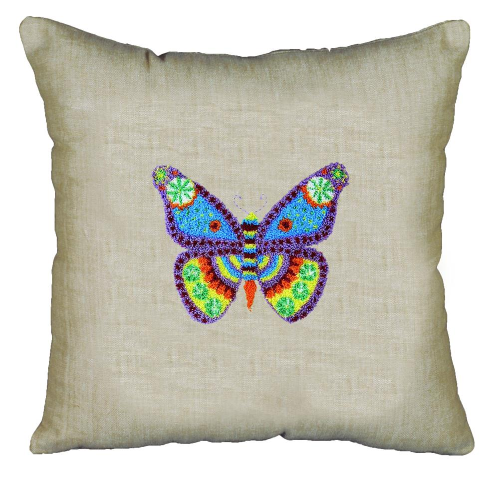 Design Works Crafts Butterfly Pillow Punch Needle Kit