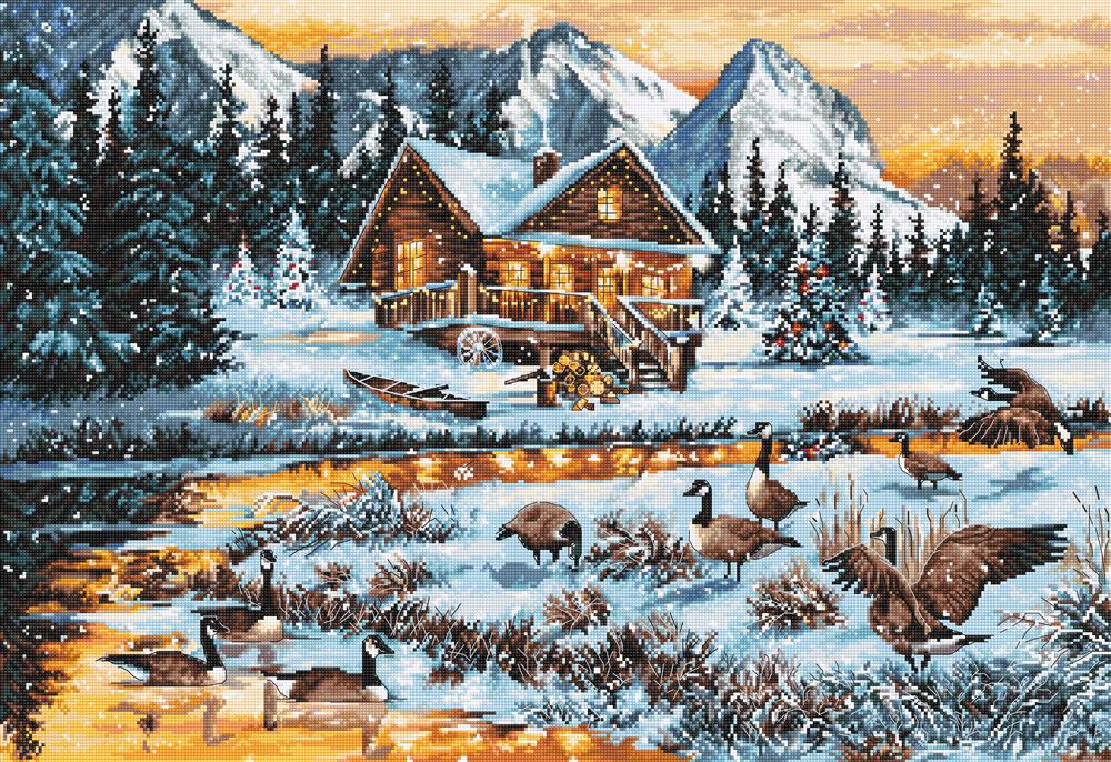 Luca-S Geese on the Stream Cross Stitch Kit
