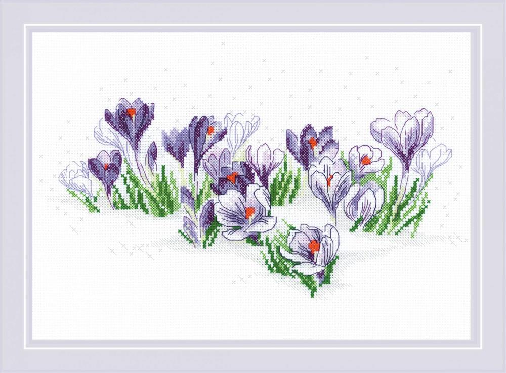 RIOLIS Crocuses Under the Snow Christmas Cross Stitch Kit