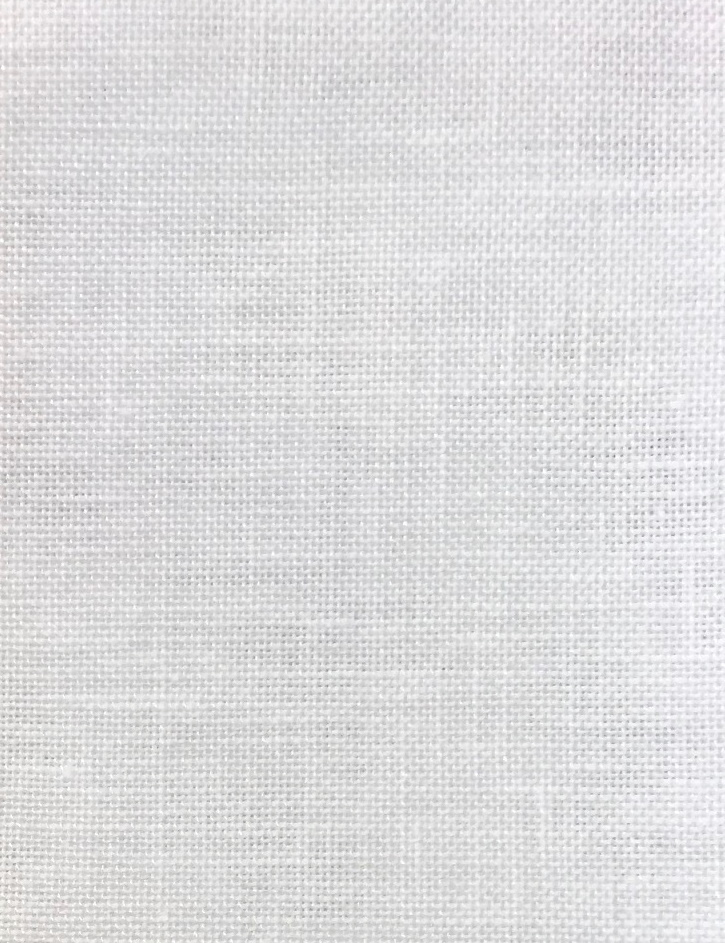 Permin 35 Count Linen Metre - White Fabric