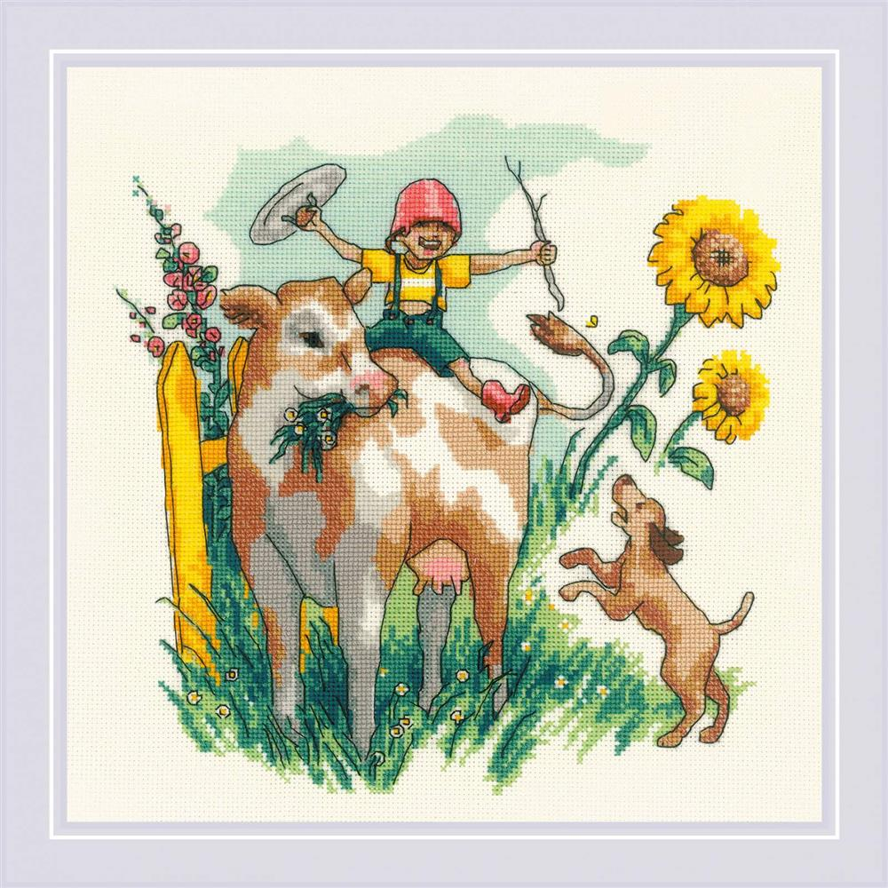 RIOLIS Summer in the Country Cross Stitch Kit