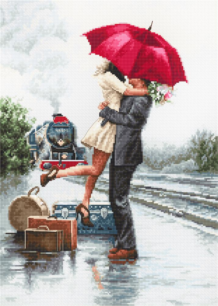 Luca-S Couple on the Station Cross Stitch Kit