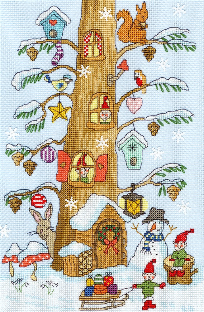 Bothy Threads Santas Little Helpers Christmas Cross Stitch Kit