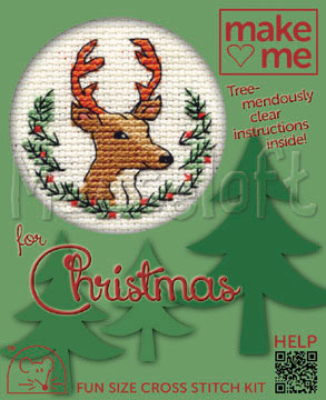 Mouseloft Christmas Stag Card Making Cross Stitch Kit
