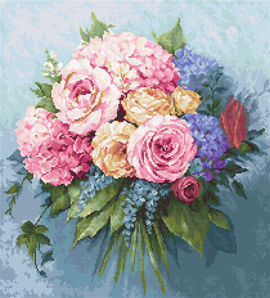 Luca-S Bouquet - Petit Point Kit Tapestry
