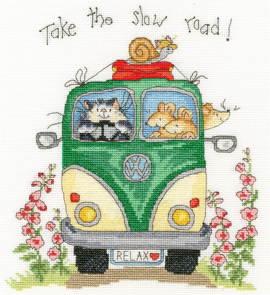 Bothy Threads Take The Slow Road Cross Stitch Kit