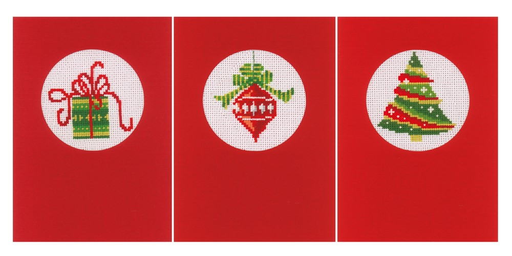 Vervaco Christmas Greetingss Card Making Cross Stitch Kit